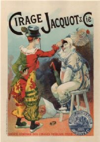 Vintage Cirage Jacquot & Cie French Advertising Poster.
